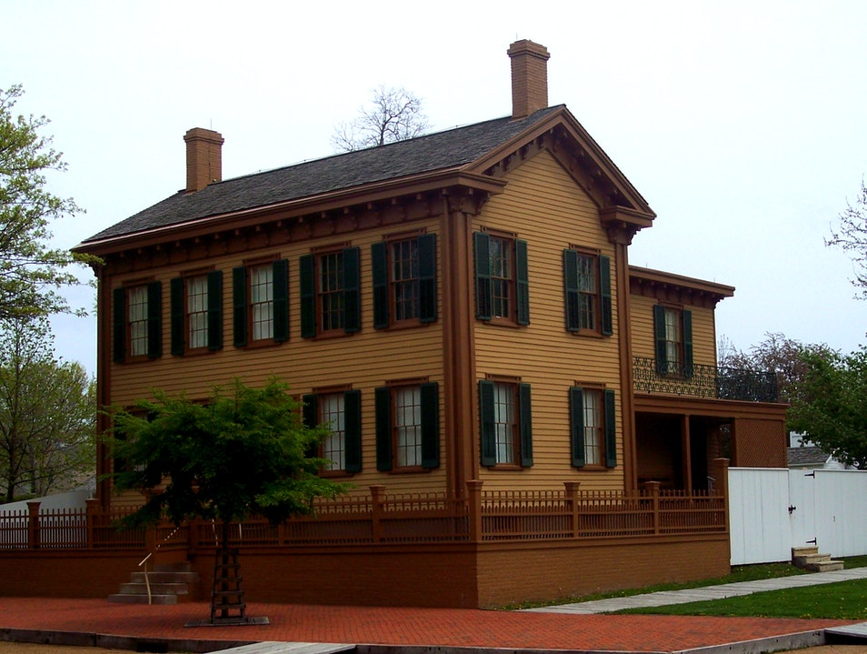 Home of Abraham Lincoln in Springfield Chicago Illinois United States