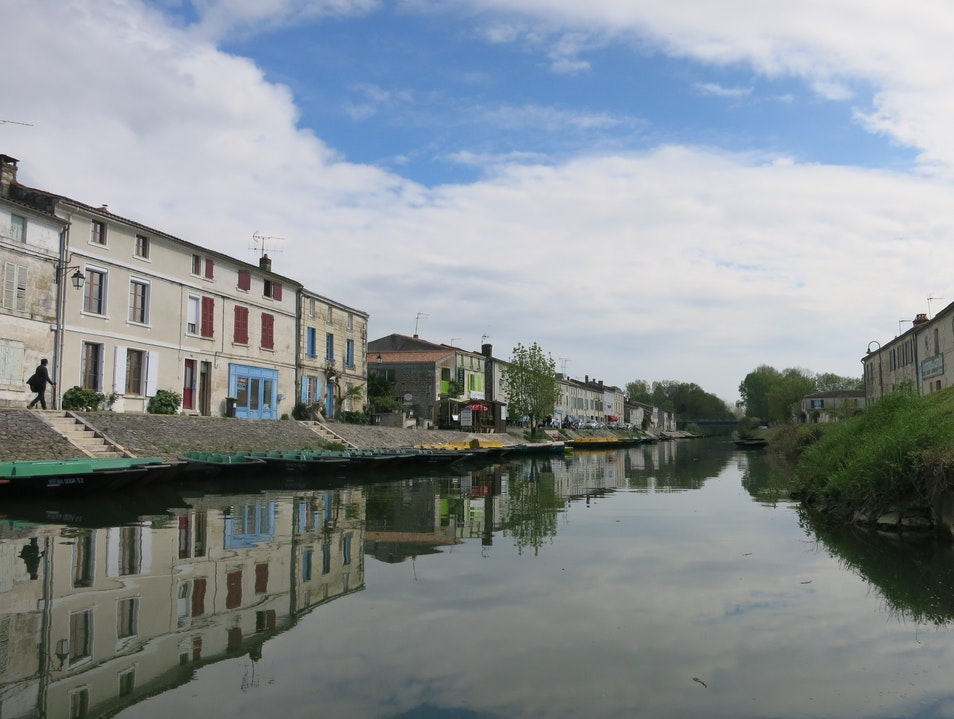 A village in France's Green Venice Coulon  France