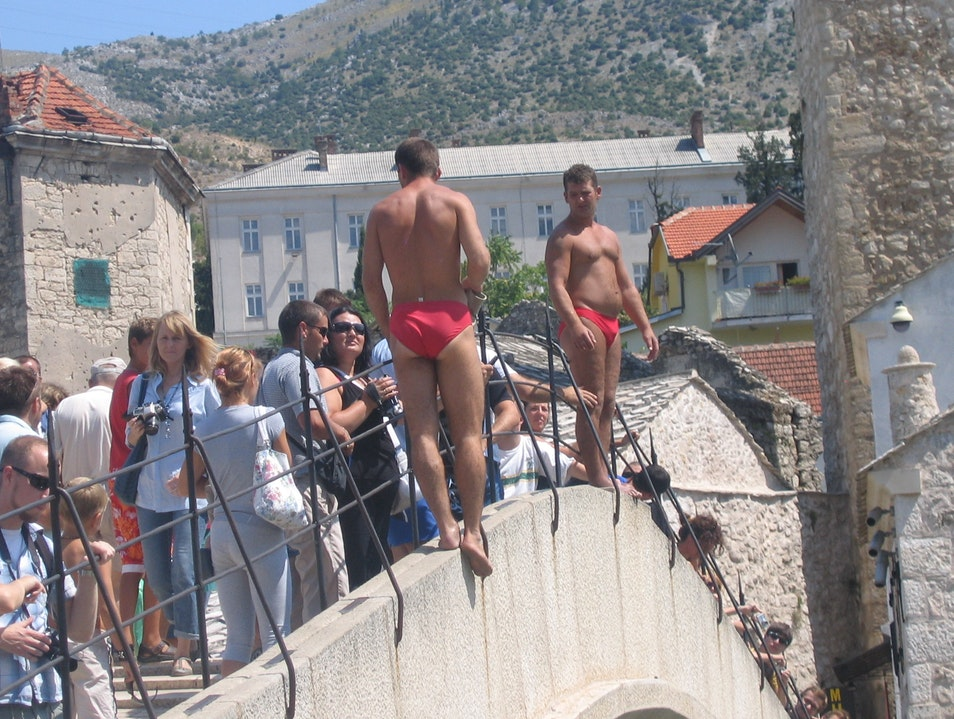 The divers Mostar  Bosnia and Herzegovina