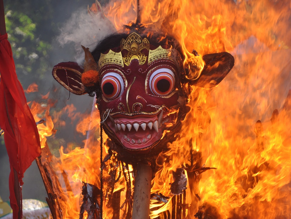 A Balinese Cremation Ceremony Sukawati  Indonesia