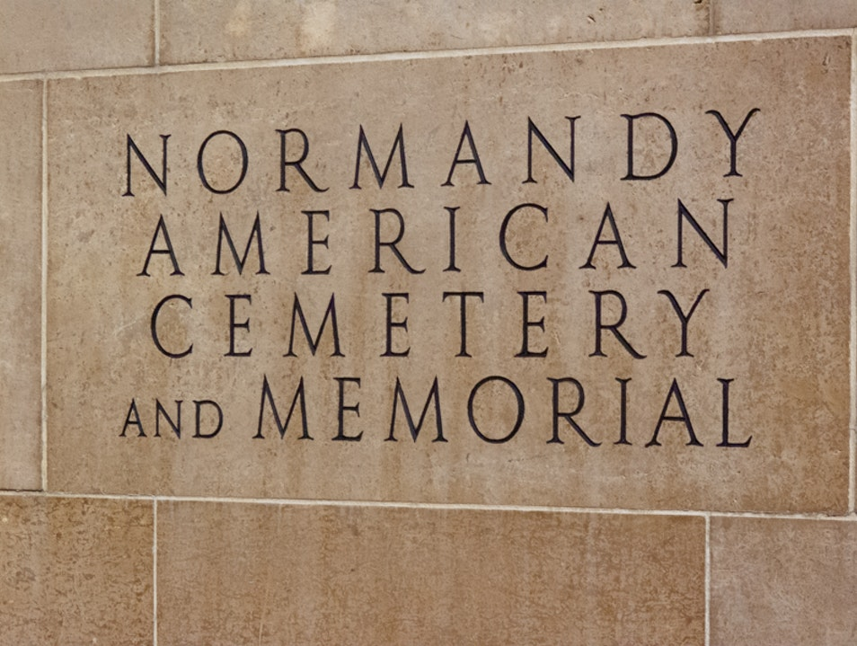 Normandy American Cemetery on the cliffs overlooking Omaha Beach