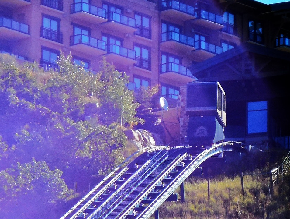 Ride the Funicular to the Bar at St. Regis Park City Utah United States