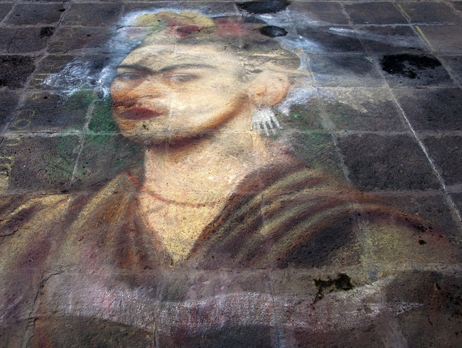 Unlikely Art: Chalk Frida