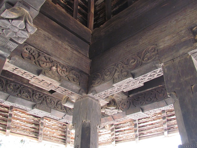 14th century wooden architecture in Kandy