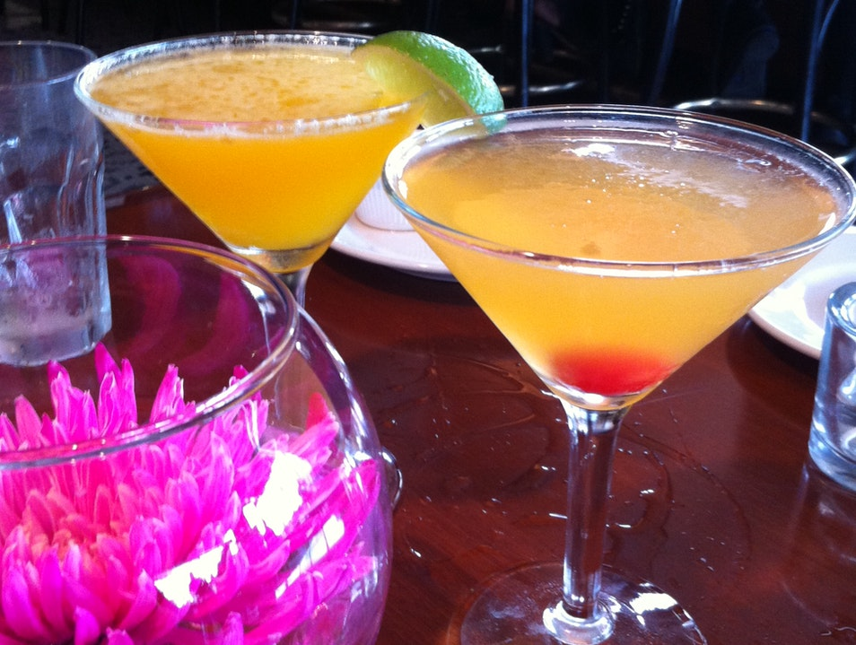Downtown happy hour cocktails