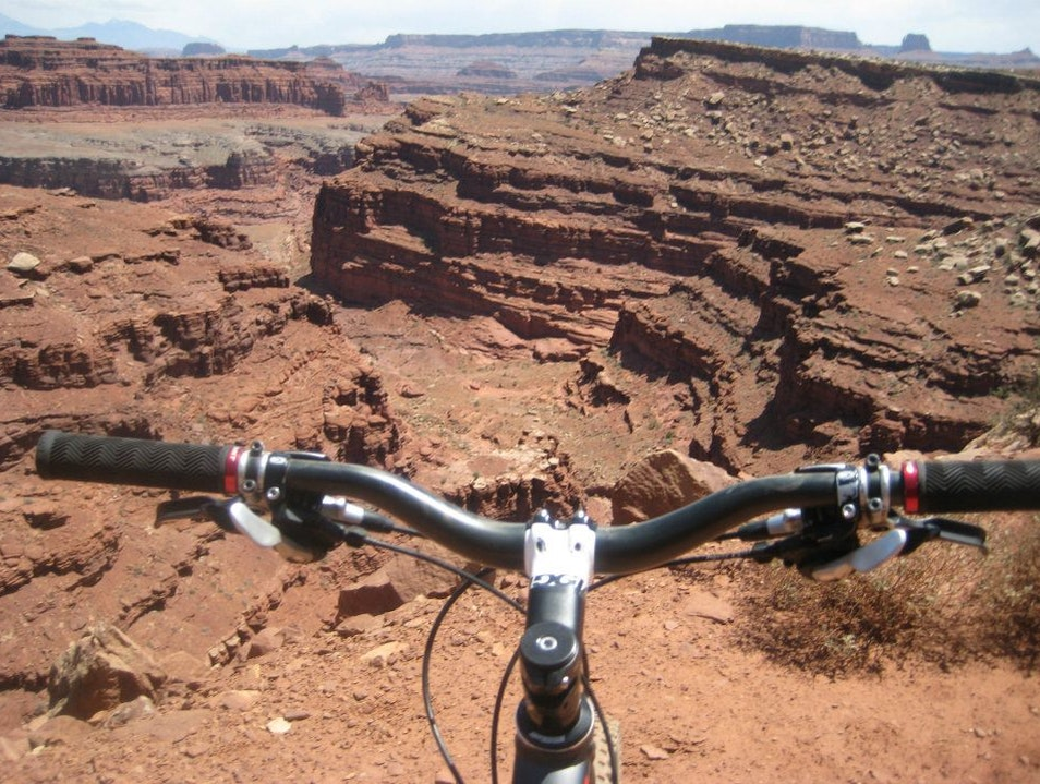 Mountain biking on the white rim Moab Utah United States