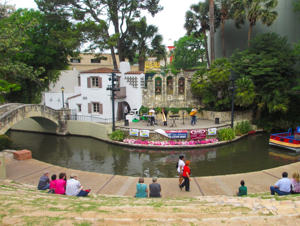 Music and Dance at the Arneson River Theatre San Antonio Texas United States