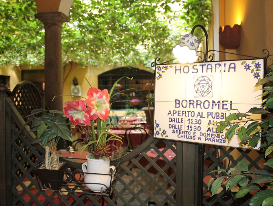 Lunch at Hostaria Borromei Milan  Italy
