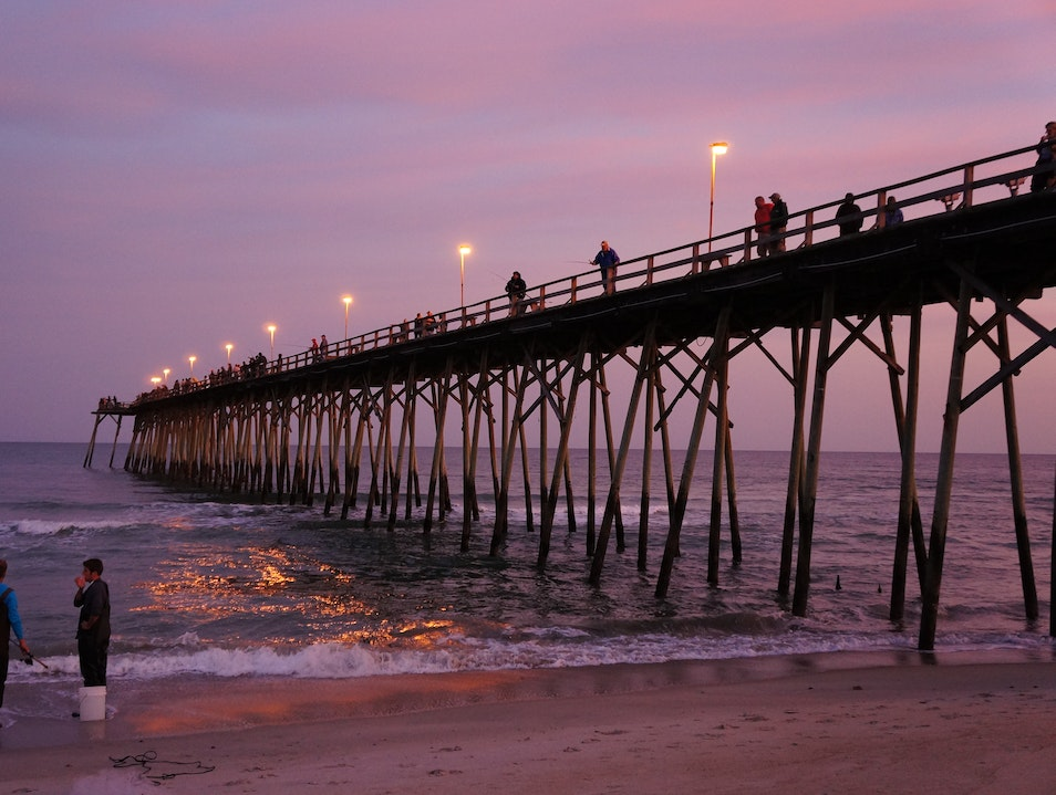 Dusk at the Kure Beach Pier Kure Beach North Carolina United States