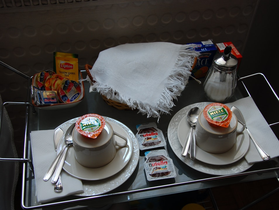 The breakfast part of bed and breakfast Rome  Italy