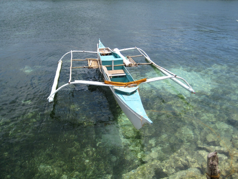 Bangka Floating on glass Dauin  Philippines
