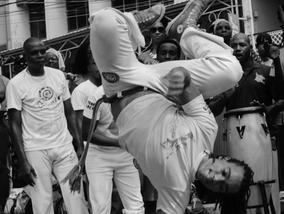 Senzala Capoeira on the Brian Lara Promenade Port Of Spain  Trinidad and Tobago