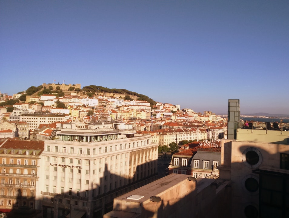 Rooftop Bar near Downtown Lisbon Lisbon  Portugal
