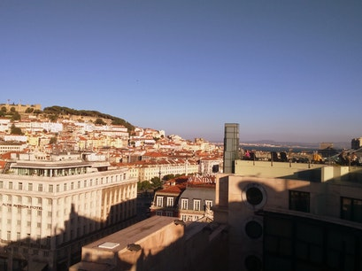 I'm in Eden Rooftop Bar Lisbon  Portugal