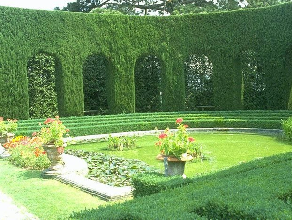Graceful Garden in Fiesole Florence  Italy
