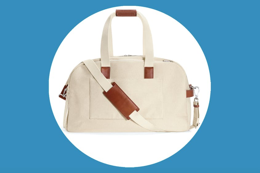 "The Canvas Weekender is marked down 50 percent in all colors, including ""Natural"" seen here."