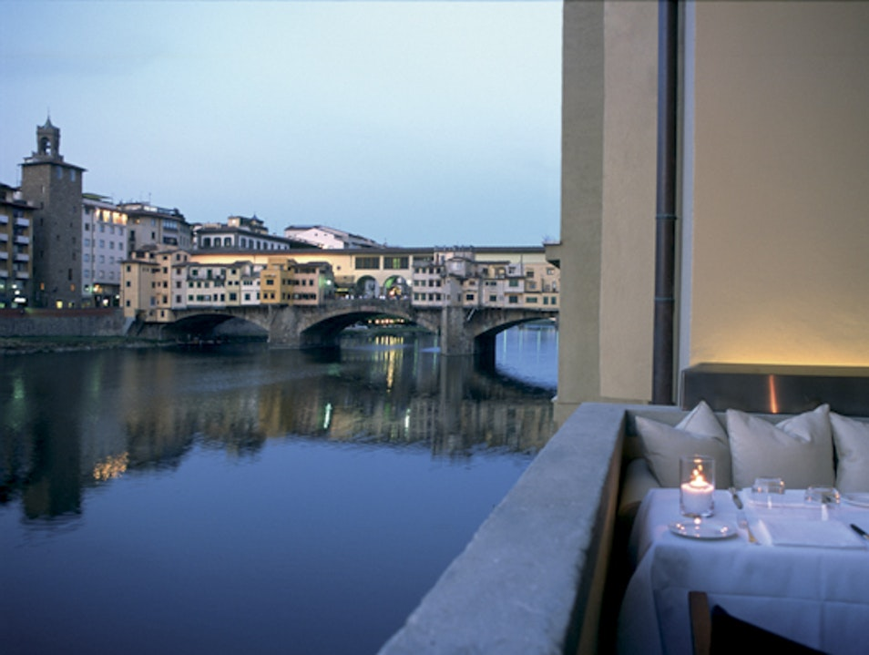 Top Table on the Arno Florence  Italy