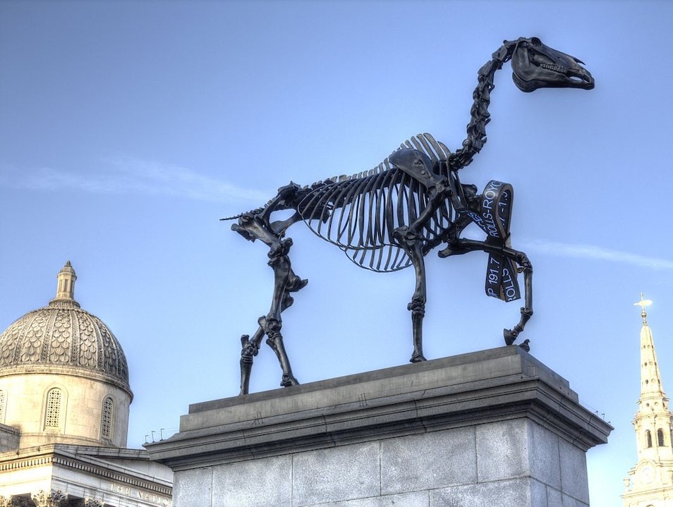Blue Roosters and Skeletal Horses...What's next?  London  United Kingdom