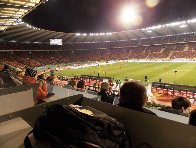 Inside the National Stadium of Belgium