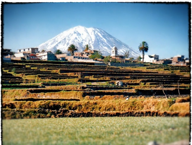 go for a walk among pre-Inca terraces
