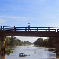 Mekong Delta foot bridge