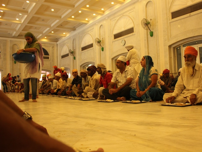 Communal Lunch at a Sikh Temple