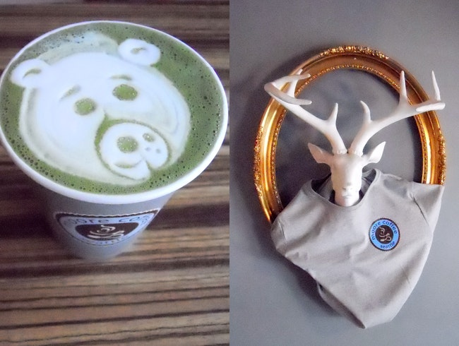 Foam-Art Lattes at Moore Coffee