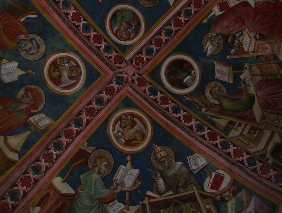 Take in medieval frescos at the Basilica of San Francesco D'Assisi, a major Catholic pilgrimage site Assisi  Italy