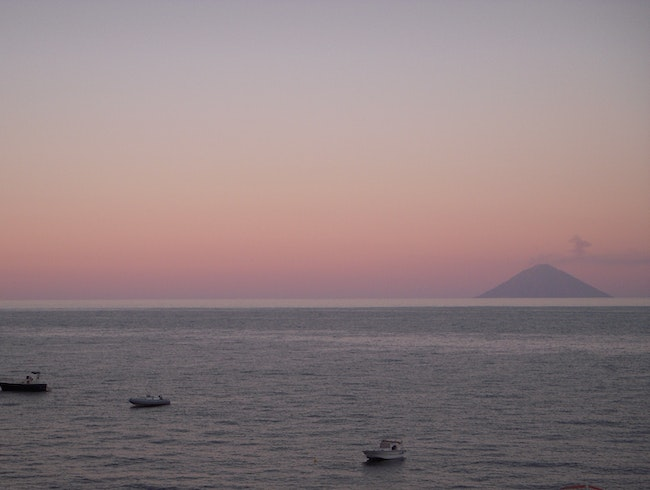 Sicilian sunsets in the Aeolian Islands