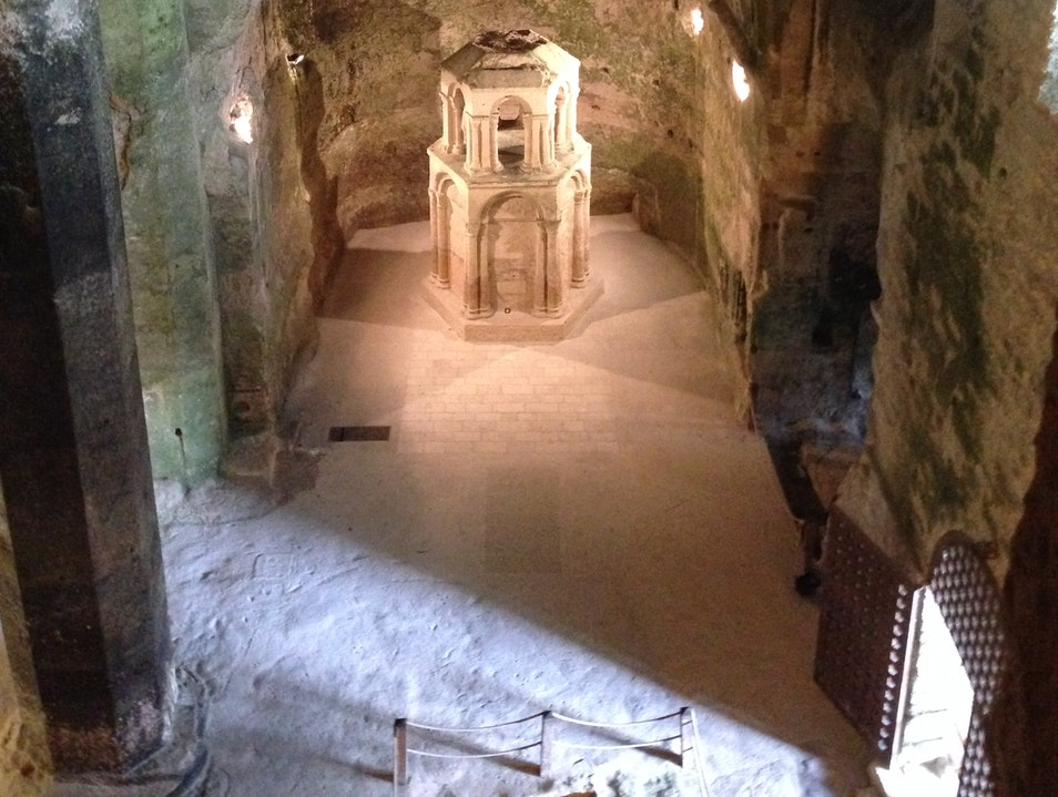 Explore the monolithic underground church of St Jean in Aubeterre sur Dronne Aubeterre Sur Dronne  France