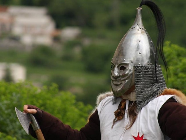 Medieval tournament in Drivenik, Croatia