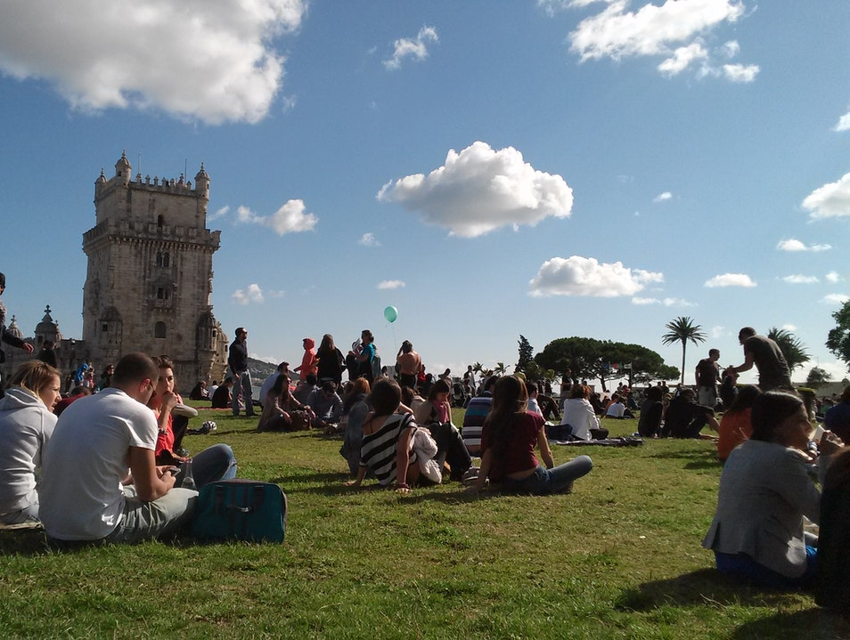 Music and picnic Lisbon  Portugal