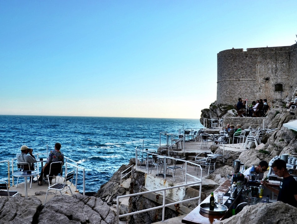 Bar With the Best View in the World Dubrovnik  Croatia