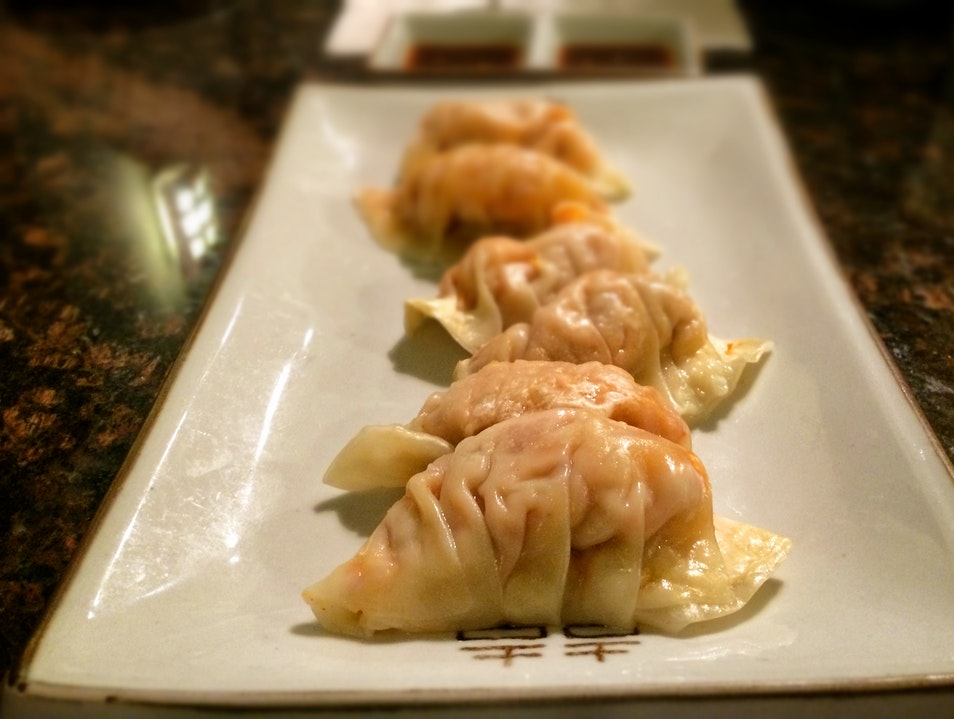 Kimchi dumplings in a Chicago 'ethnoburb'  Buffalo Grove Illinois United States
