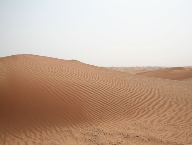 Dunes in the Arabian Desert