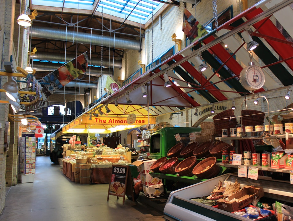 Dining and Shopping at The Forks Market Winnipeg  Canada