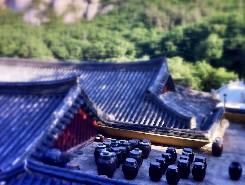 Fermenting On A Temple-roof Goseong-gun  South Korea