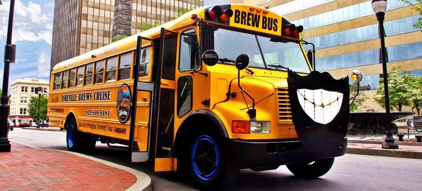 Asheville Brews Cruise offers tours of the city's best breweries aboard a refurbished school bus.