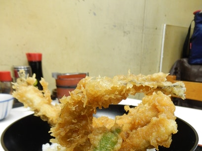 Tenfusa Tempura at Tsukiji Market Chuo City  Japan