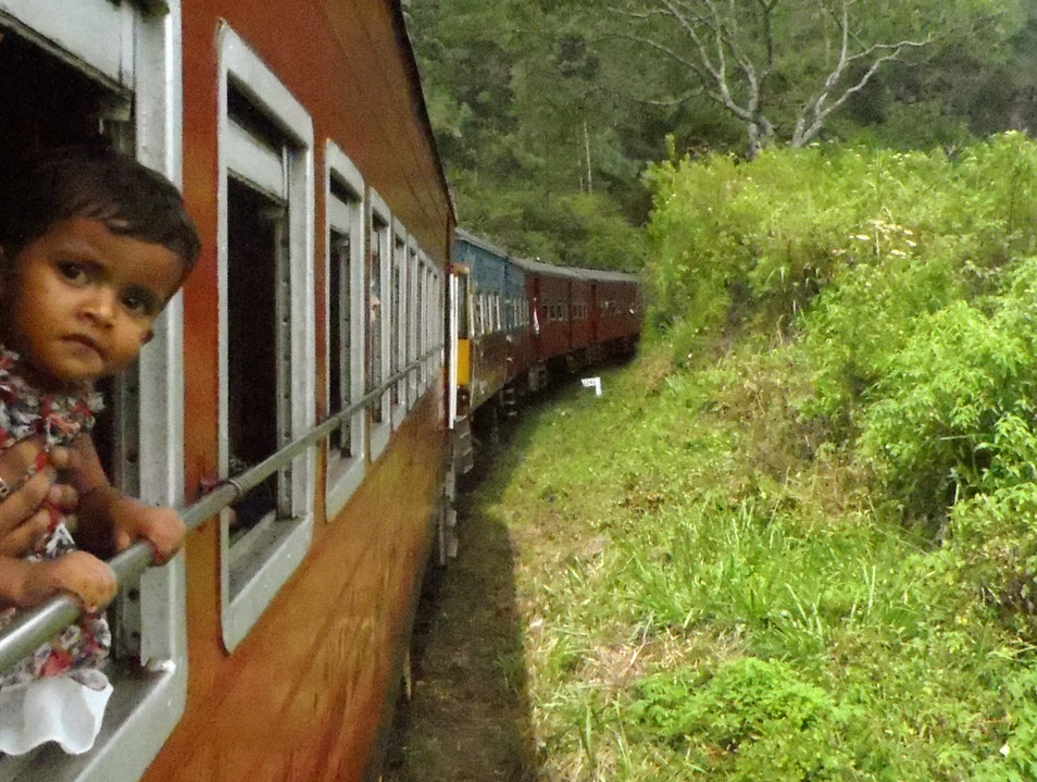 Everyone loves a train ride Nuwara Eliya  Sri Lanka