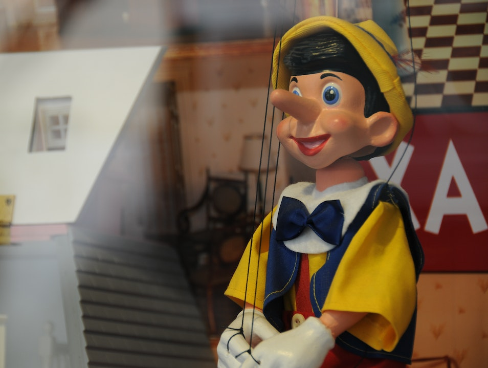 Pinocchio In the Window Barcelona  Spain