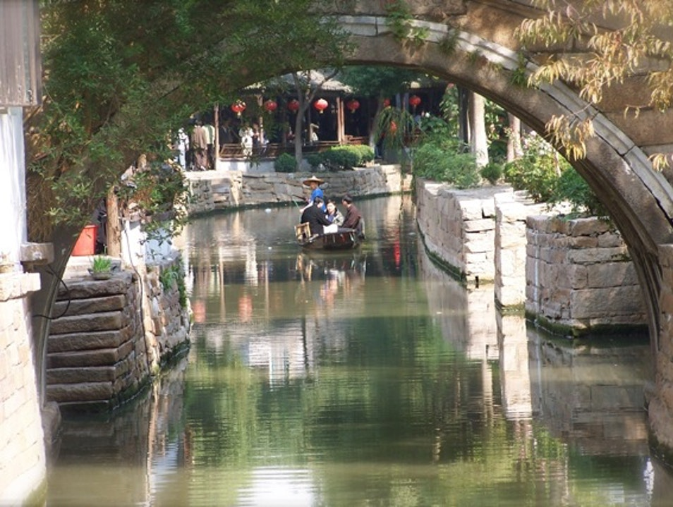 Nearby Water Town with Famous Street Food Shanghai  China
