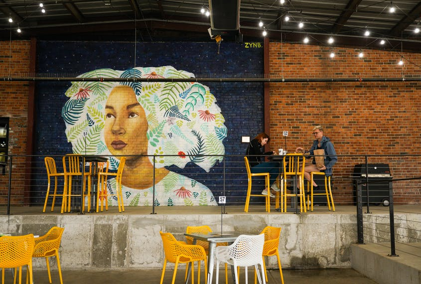 A mural at Mother Road Market, Tulsa's first food hall