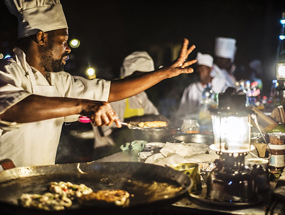 Night Market at Zanzibar's Forodhani Gardens