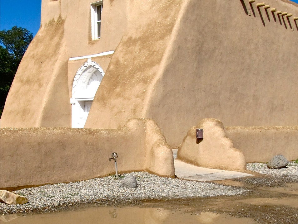 Reflections: New Mexico's Famous Church Ranchos de Taos New Mexico United States