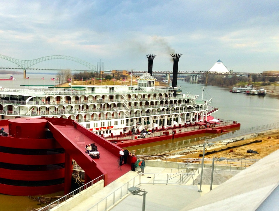 American Queen at Beale Street Landing Memphis Tennessee United States