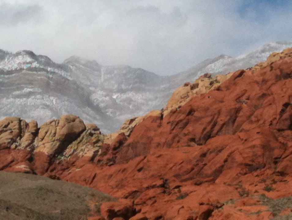 Winter in Redrock Henderson Nevada United States