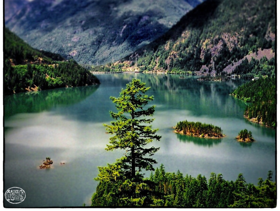 Diablo Lake in the North Cascades Rockport Washington United States