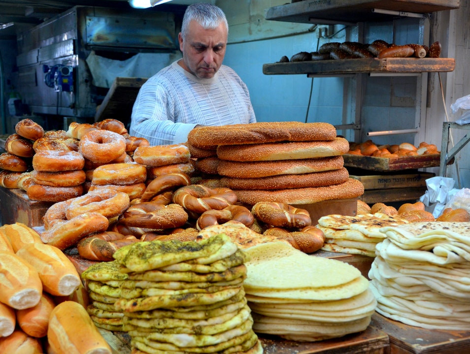 Bread at the Shuk Jerusalem  Israel