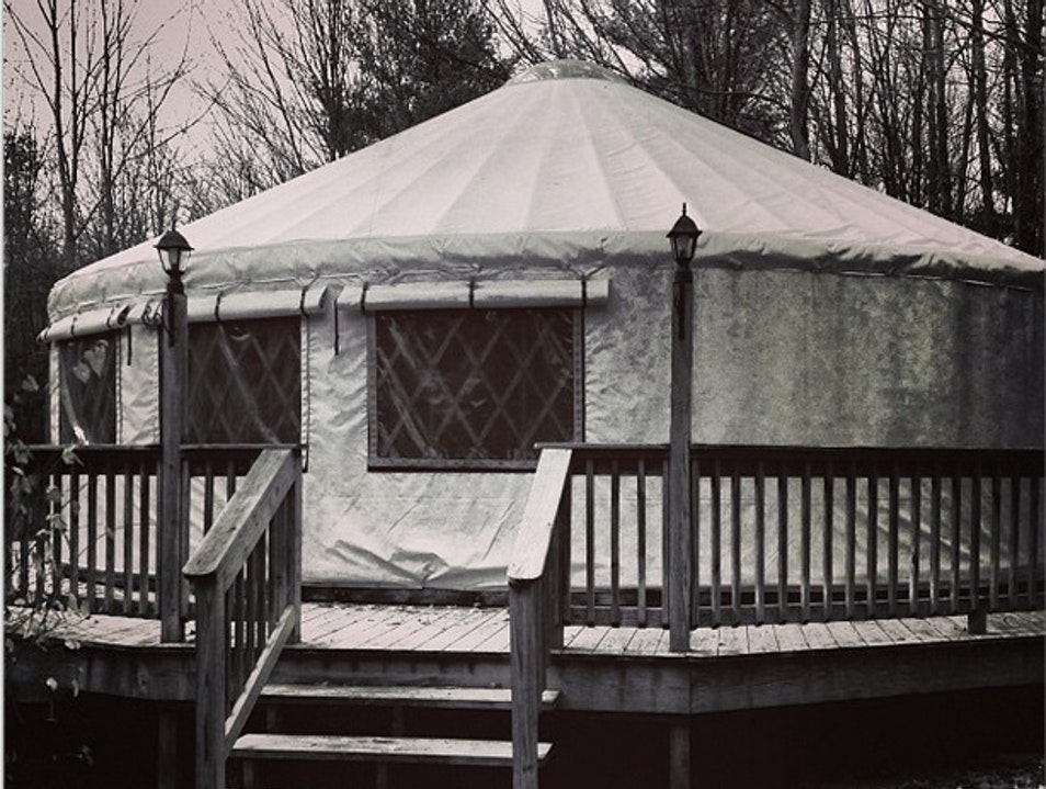 Glamping in a Yurt in the Catskills